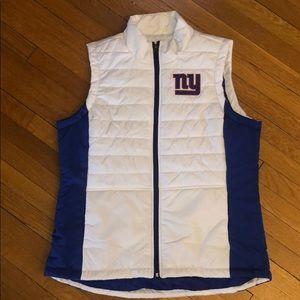 NEW white puffy vest NFL Team Apparel NY Giants